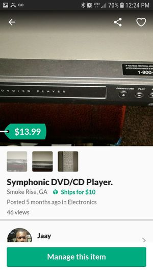 Symphonic DVD/CD Player for Sale in Stone Mountain, GA