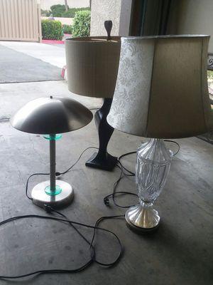 5 used lamps one price for Sale in Rancho Santa Margarita, CA
