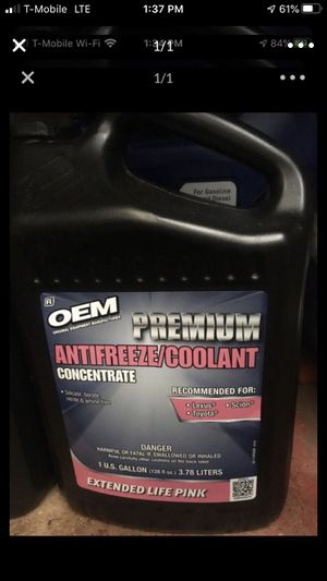 100 percent coolant for Toyota Lexus. for Sale in Diamond Bar, CA