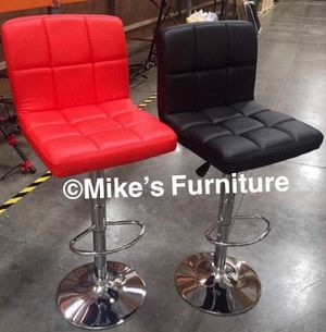 New Adjustable Bar Stools, bar stool,Sillas, Dining Chairs, chair, chairs, cadeiras (5 colors Red, Black, White, Brown, Gray) for Sale in Sunrise, FL