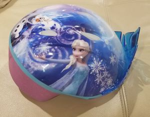 Disney Frozen (Anna, Elsa, & Olaf) Kids Bike Helmet for only $5! Like New! Stop by today! for Sale in Sandy Springs, GA