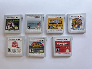 LOT of 7 3DS Games: Mariokart 7, Luigis mansion, Super Mario's Bros 2, & More for Sale in Washington, DC