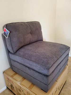 Harrison Armless Chair by Lake View New in Box (Pewter) for Sale in Las Vegas, NV