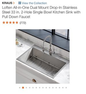 Kitchen sink NEW. Never opened for Sale in Miami Gardens, FL