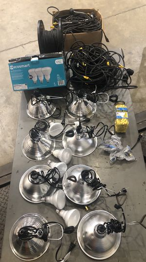 Lights, bulbs, electrical cord, wire nuts for Sale in Brunswick, OH