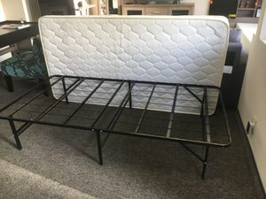 Tempo Collection 14in High Profile Platform Smart Base Bed Frame with Foam Mattress, Twin Size for Sale in Santa Ana, CA