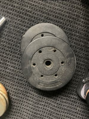 15lb weight plates for standard 1 inch bar for Sale in Oakland, CA