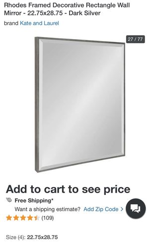 """New Rectangle Wall Mirror (22.5""""x28.75"""") for Sale in Alexandria, VA"""
