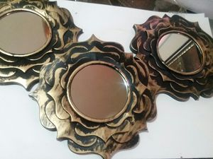6 ANTIGUE GOLD DECORATIVE MIRRORS for Sale in Wilmington, DE