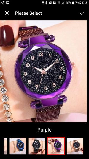 Magnetic stainless steel women watch for Sale in Staten Island, NY