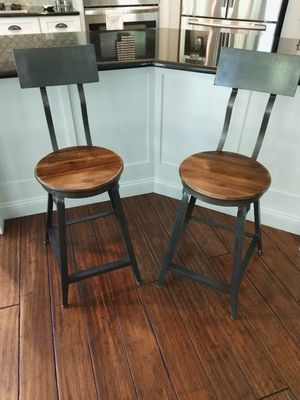Pair of World Market Counter Stools for Sale in Ashburn, VA