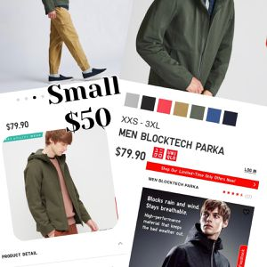 Brand New Uniqlo Jackets, Men Blocktech Parka for Sale in Spring, TX