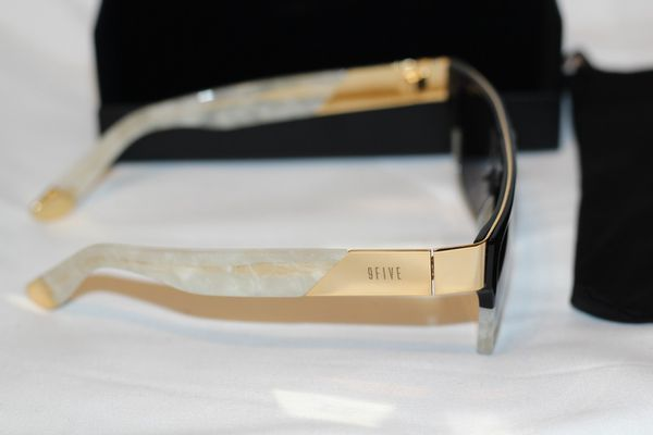 21970ef5d5 SOLD OUT) 9FIVE 22 MARBLE CROC   24K GOLD SUNGLASSES for Sale in El ...