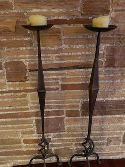 Two Wrought Iron Candle Holders-42 Inches Tall for Sale in Portland,  OR