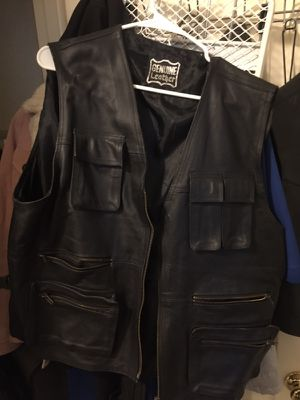 Leather Riding Vest. Size 44 for Sale in Dallas, TX