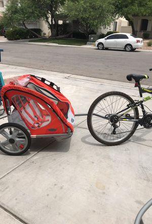 Bike and bike trailer for Sale in Las Vegas, NV