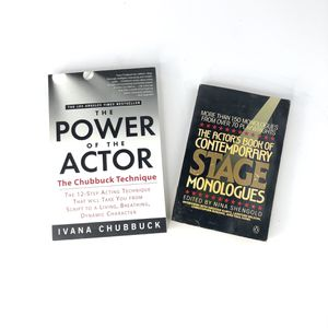 Set Of Acting Books Power Of The Actor, Contemporary Stage Monologues for Sale in Tampa, FL