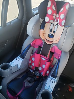 KidsEmbrace 2-in-1 Harness Booster Car Seat, Disney Minnie Mouse for Sale in Las Vegas, NV