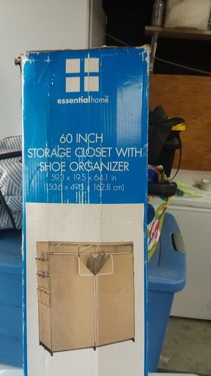 60 inch storage closet with shoe organizer for Sale in Victorville, CA