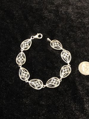 New never worn Solid silver black onyx bracelet for Sale in Vacaville, CA