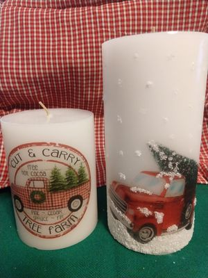 Red truck candles for Sale in Manton, MI