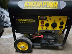 Champion Portable Gas Generator for Sale in Beaumont, TX