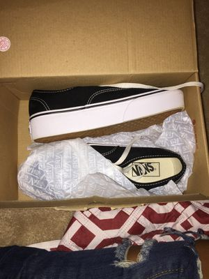 Just bought these high tops vans for 80 but selling for 60 I don't like them they are brand new btw for Sale in Fayetteville, NC