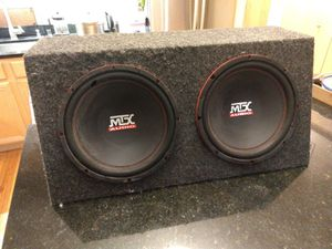 Mtx audio 2 x 12 in sub and enclosure for Sale in Chicago, IL