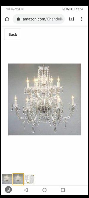 Chandelier, House of hamptom ,crystal for Sale in The Bronx, NY