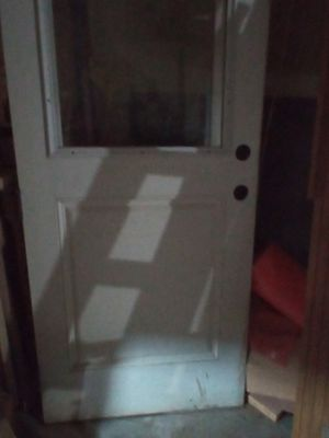 glass door with curtain good condition . Is tall 35/95 for Sale in San Antonio, TX