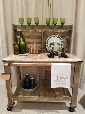 Rustic Pallet Bar Cart for Sale in Bothell, WA
