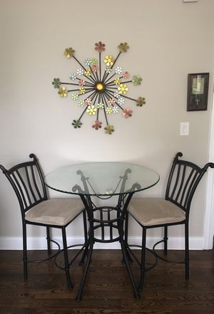 Bar height table and two chairs for Sale in Chicago, IL