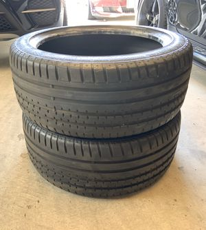 Continental Sport Contact tires 255/40/19 Pair only for Sale in Loma Linda, CA