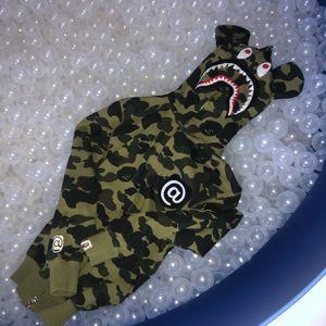 Bathing ape bape zipper hoodie with ears - says XL but fits like a men's small Camo hooded sweatshirt hoodie #bape #streetwear #hype #bathingape # for Sale in Merrimac, MA