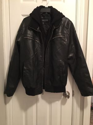Guess leather winter coat boys/men size M for Sale in Parma, OH