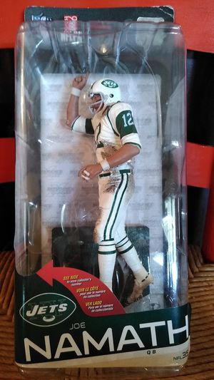 Joe Namath Collectable Action Figure Doll, Jets, NFL for Sale in Sunrise, FL