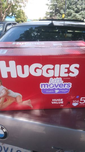 Huggies little movers double grip diapers for Sale in Englewood, CO