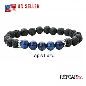Men's Lava Stone Bracelet With Lapis Lazuli Stone for Sale in Baltimore, MD