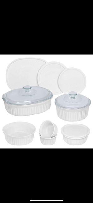 corningware french 10 pieces ovel set for Sale in Opa-locka, FL