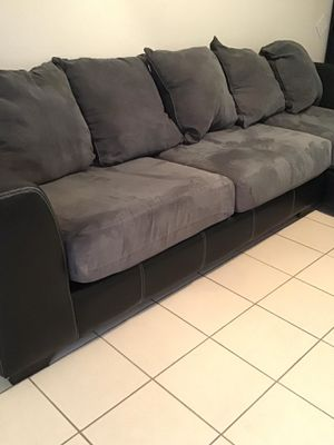 Selling my use couch Negotiate a price with me for Sale in Houston, TX