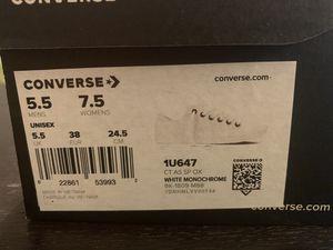 Converse 5.5M 7.5W: white for Sale in Oakland, CA