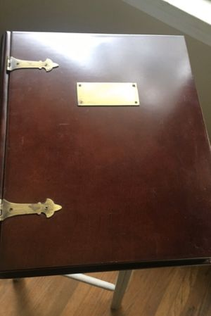 Bombay Company mahogany treasure book storage box for Sale in Rochester, NY