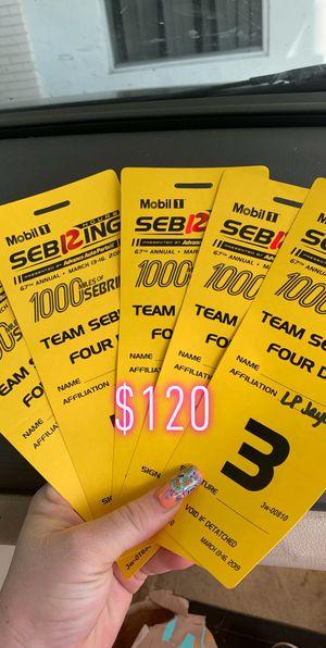 5 race tickets 4 parking passes for Sale in Avon Park, FL
