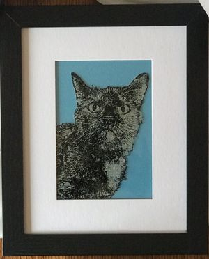 Hand Painted Revers Glan Pet Portraits for Sale in Henrico, VA