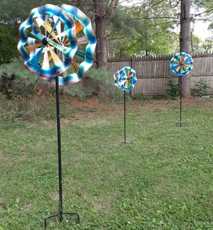 Three metal Yard Spinners for Sale in Weyers Cave, VA