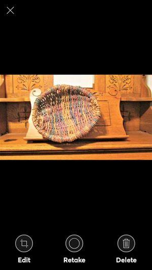"""Vintage 12-1/2"""" Multi-Color Design Handmade Basket for Sale in Lynchburg, VA"""