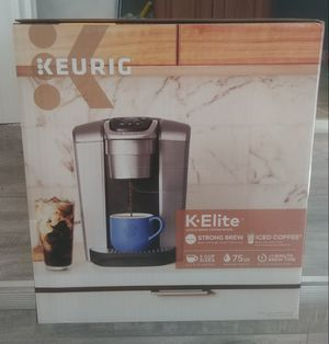 Keurig K-Elite Coffee Maker, Single Serve K-Cup Pod Coffee Brewer, with Ice Coffee Cabability for Sale in Long Beach, CA