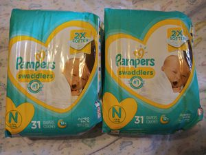 Pampers and Huggies size Newborn for Sale in Creedmoor, TX