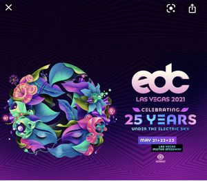 EDC 2021 general admission plus pass for Sale in Las Vegas, NV
