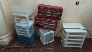 Plastic storage drawers. Each for $5. for Sale in Miami, FL